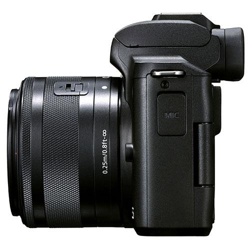 EOS M50 Mark II Mirrorless Camera in Black with EF-S 15-45mm Lens Product Image (Secondary Image 5)