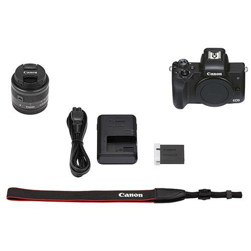 EOS M50 Mark II Mirrorless Camera in Black with EF-S 15-45mm Lens Product Image (Secondary Image 10)