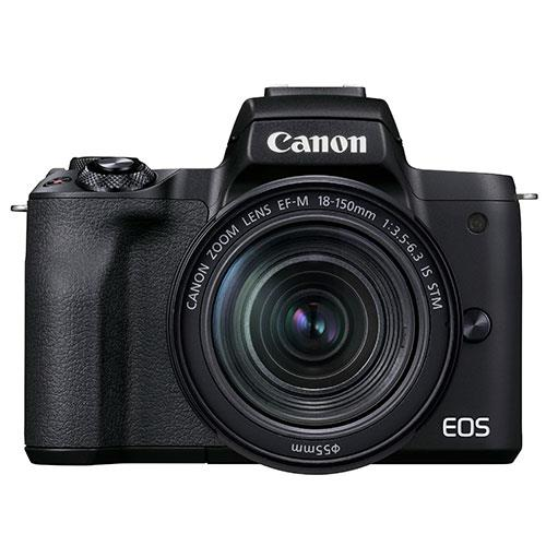 EOS M50 Mark II Mirrorless Camera in Black with EF-S 18-150mm Lens Product Image (Primary)