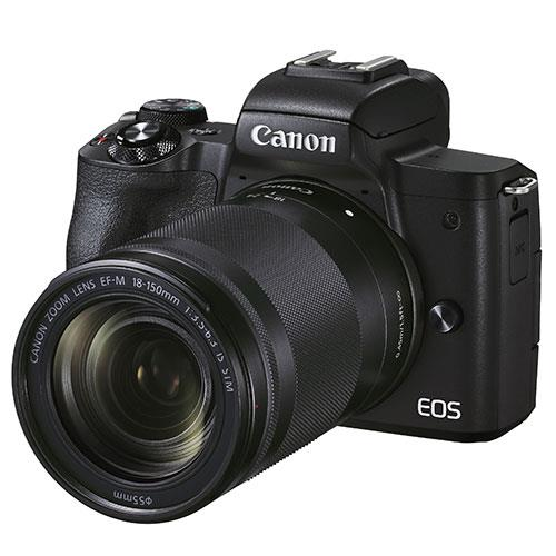 EOS M50 Mark II Mirrorless Camera in Black with EF-S 18-150mm Lens Product Image (Secondary Image 1)
