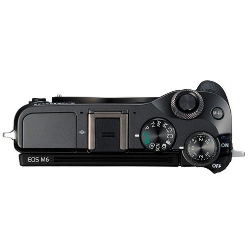 EOS M6 Mirrorless Camera in Black + 15-45mm Lens Product Image (Secondary Image 2)