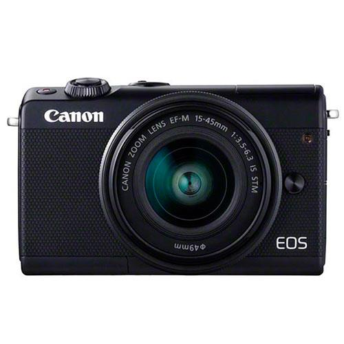 EOS M100 Mirrorless Camera in Black Limited Addition + 15-45mm Lens Product Image (Primary)