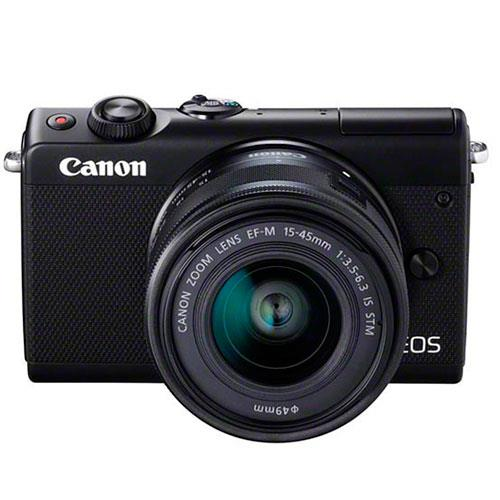 EOS M100 Mirrorless Camera in Black Limited Addition + 15-45mm Lens Product Image (Secondary Image 1)