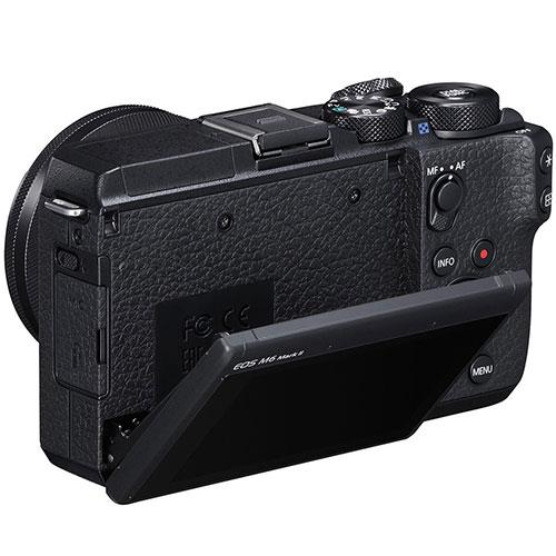EOS M6 Mirrorless Camera Body in Black Product Image (Secondary Image 2)