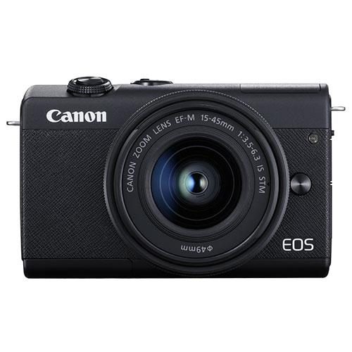 EOS M200 Mirrorless Camera in Black with EF-M 15-45mm Black Product Image (Primary)