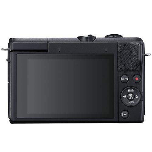 EOS M200 Mirrorless Camera in Black with EF-M 15-45mm Black Product Image (Secondary Image 2)
