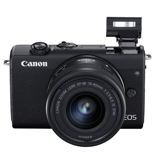 EOS M200 Mirrorless Camera in Black with EF-M 15-45mm Black Product Image (Secondary Image 5)