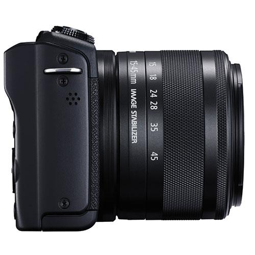 EOS M200 Mirrorless Camera in Black with EF-M 15-45mm Black Product Image (Secondary Image 6)