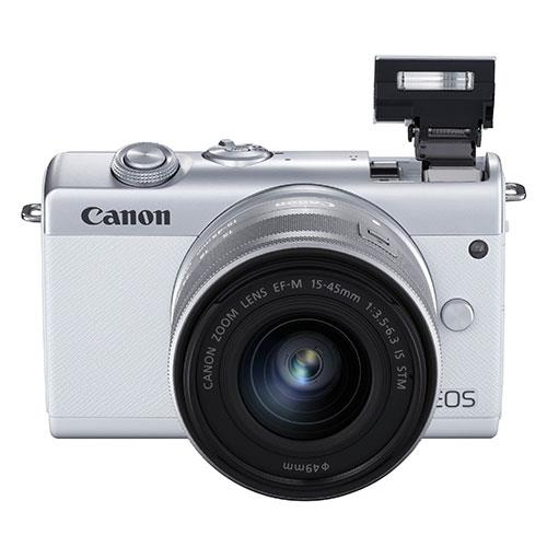 EOS M200 Mirrorless Camera in White with EF-M 15-45mm Lens Product Image (Secondary Image 6)