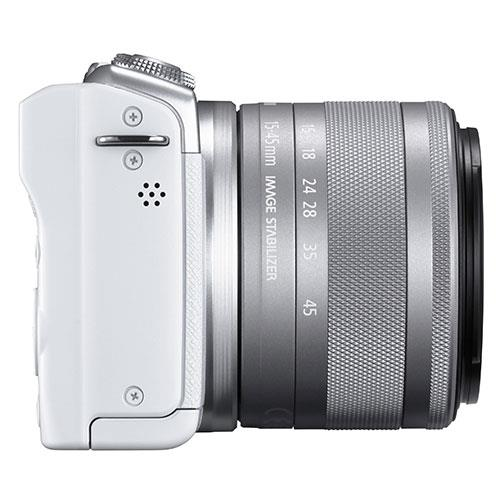 EOS M200 Mirrorless Camera in White with EF-M 15-45mm Lens Product Image (Secondary Image 8)