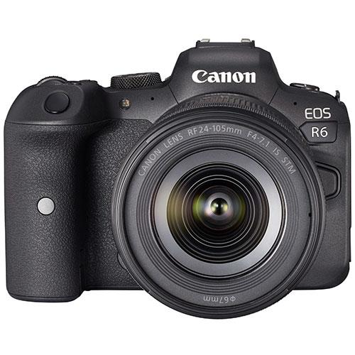 EOS R6 Mirrorless Camera with RF 24-105mm F4-7.1 IS STM Lens Product Image (Primary)