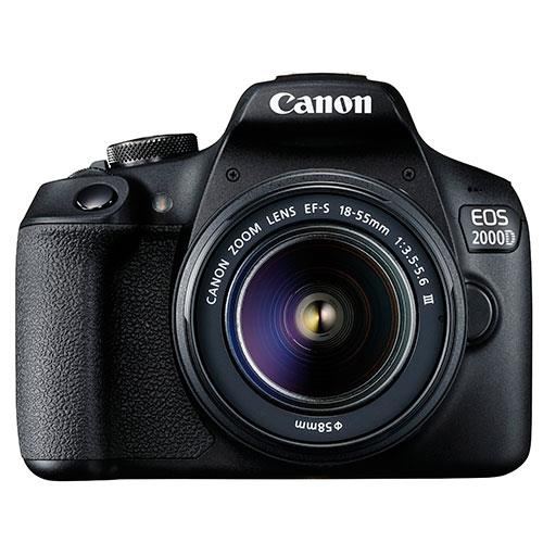 EOS 2000D Digital SLR with EF-S 18-55mm DC III Lens Product Image (Primary)
