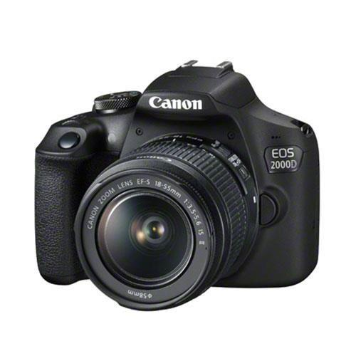 EOS 2000D Digital SLR with EF-S 18-55mm IS II Lens + Canon Bag, 16GB Card & Lens Cloth  Product Image (Secondary Image 1)