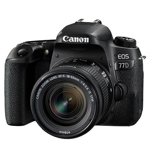 EOS 77D Digital SLR + 18-55mm STM Lens Product Image (Primary)