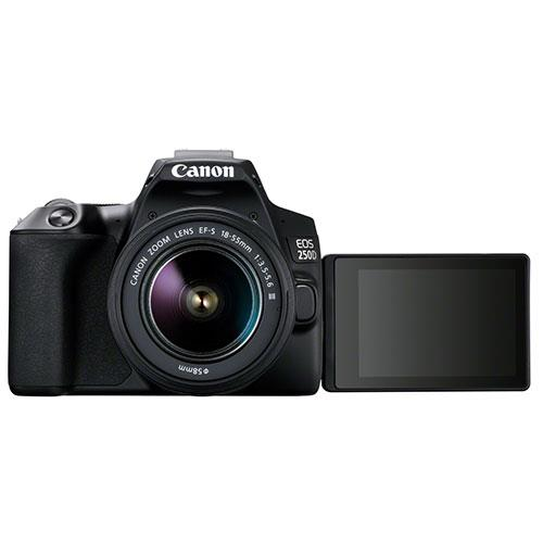 EOS 250D Digital SLR in Black with 18-55mm DC Lens Product Image (Secondary Image 1)