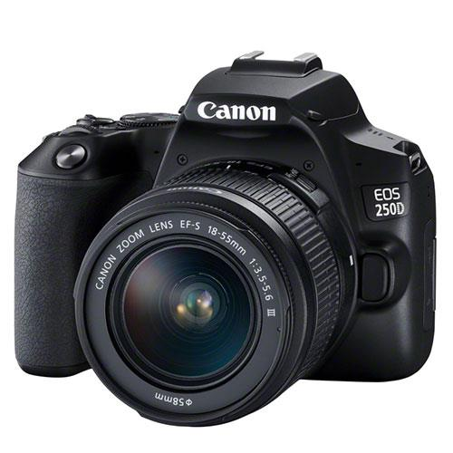 EOS 250D Digital SLR in Black with 18-55mm DC Lens Product Image (Secondary Image 4)