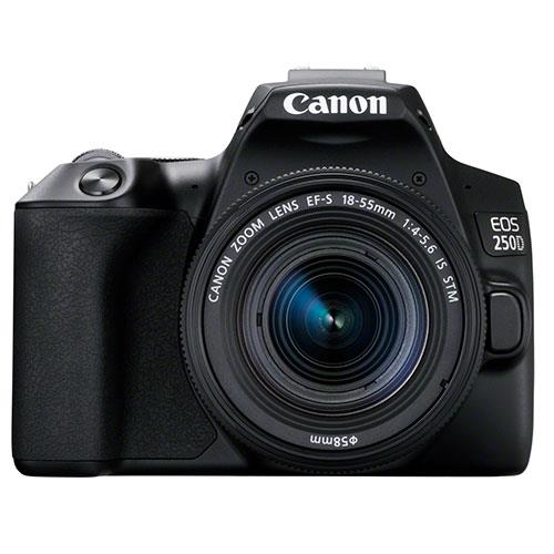 EOS 250D Digital SLR in Black with 18-55mm IS Lens Product Image (Primary)