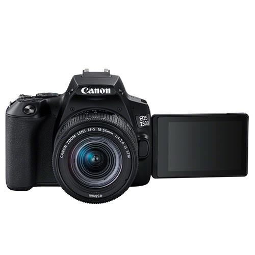 EOS 250D Digital SLR in Black with 18-55mm IS Lens Product Image (Secondary Image 4)