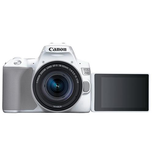 EOS 250D Digital SLR in White with 18-55mm IS Lens Product Image (Secondary Image 1)