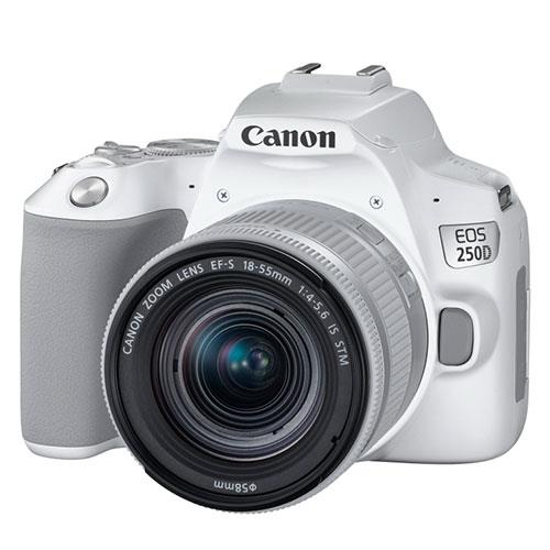 EOS 250D Digital SLR in White with 18-55mm IS Lens Product Image (Secondary Image 2)