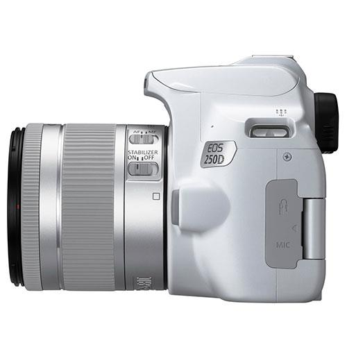 EOS 250D Digital SLR in White with 18-55mm IS Lens Product Image (Secondary Image 5)