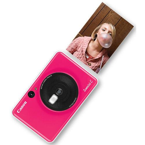 Zoemini C Instant Camera in Bubble Gum Pink Product Image (Secondary Image 3)