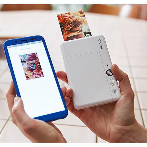 Zoemini S Instant Camera in White Product Image (Secondary Image 3)