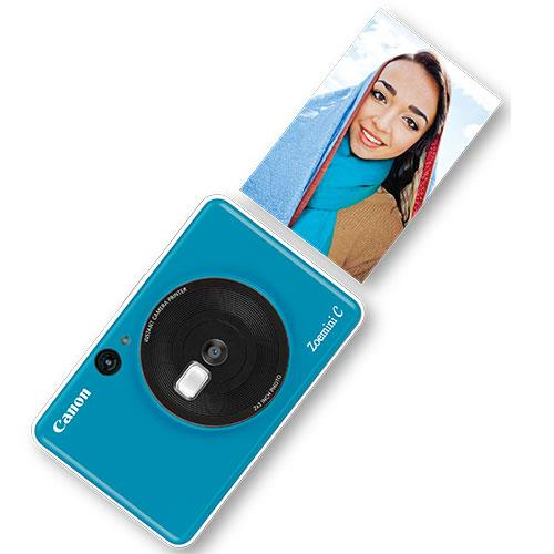 Zoemini C Instant Camera in Seaside Blue Product Image (Secondary Image 3)