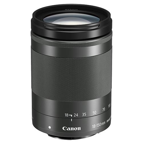 EF-M 18-150mm f/3.5-6.3 IS STM Lens in Black Product Image (Primary)