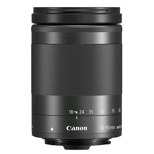 EF-M 18-150mm f/3.5-6.3 IS STM Lens in Black Product Image (Secondary Image 1)