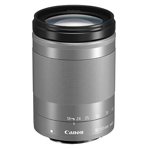 EF-M 18-150mm f/3.5-6.3 IS STM Lens in Silver Product Image (Primary)