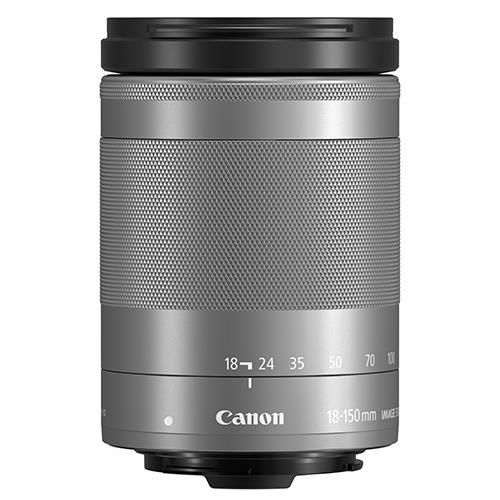 EF-M 18-150mm f/3.5-6.3 IS STM Lens in Silver Product Image (Secondary Image 1)