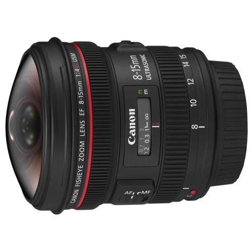 EF 8-15mm f4L USM Fisheye Zoom Lens Product Image (Primary)