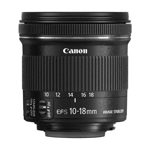 EF-S 10-18mm f/4.5-5.6 IS STM Lens Product Image (Primary)