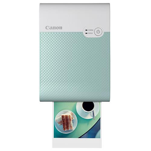 Selphy Square QX10 Printer in Green Product Image (Secondary Image 2)