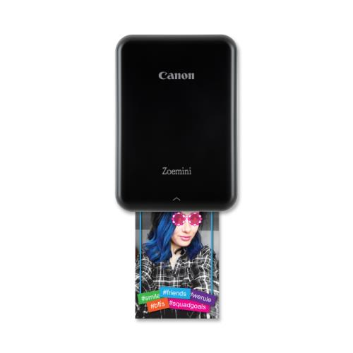 Canon ZoeMini Photo Printer Black Product Image (Secondary Image 2)