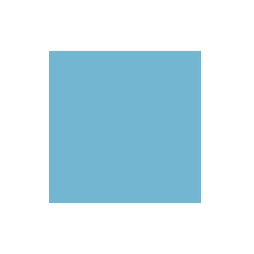1.35x11m Sky Blue Paper Background Product Image (Primary)