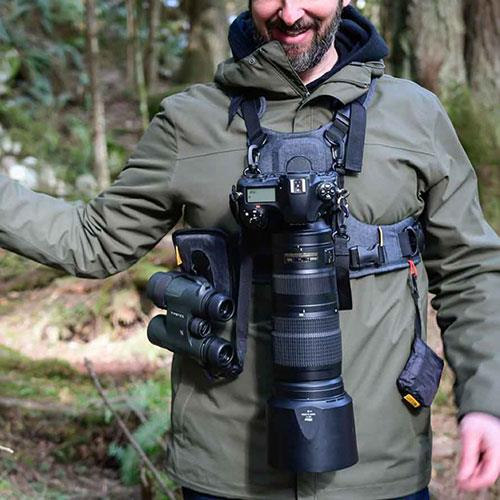G3 Binocular and Camera Harness in Charcoal Grey  Product Image (Secondary Image 2)