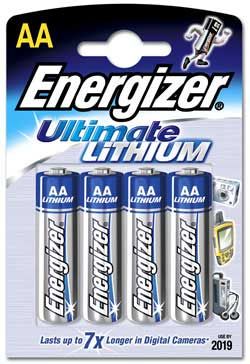 Ultimate Lithium AA Batteries, Pack Of 4 Product Image (Primary)