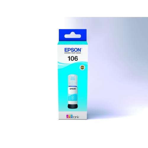 106 ECOTank Cyan INK Bottle Product Image (Primary)