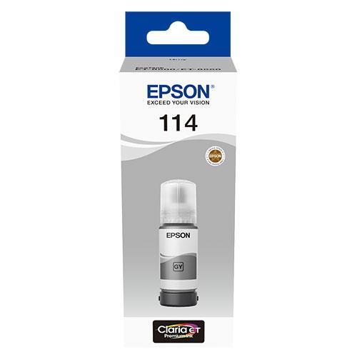 114 EcoTank Grey Ink Bottle Product Image (Primary)