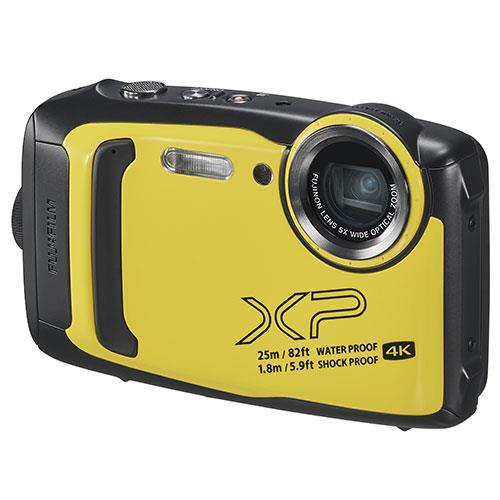 Finepix XP140 Digital Camera in Yellow Product Image (Secondary Image 2)