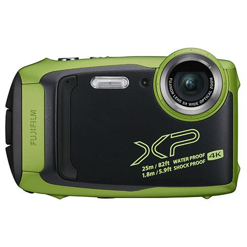 Finepix XP140 Digital Camera in Lime Green Product Image (Primary)