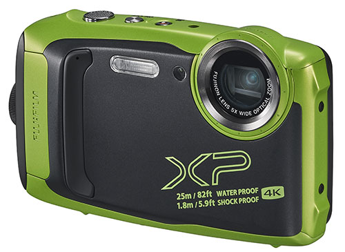 Finepix XP140 Digital Camera in Lime Green Product Image (Secondary Image 2)