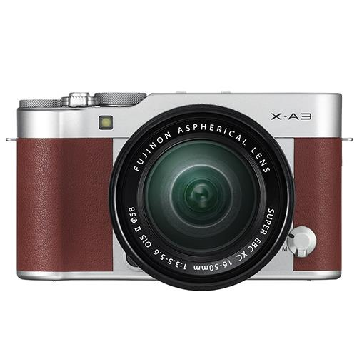 X-A3 Mirrorless Camera In Brown + XC16-50mm Lens  Product Image (Primary)