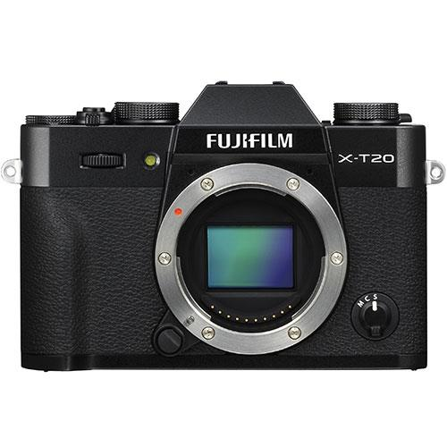 X-T20 Mirrorless Camera Body in Black Product Image (Primary)