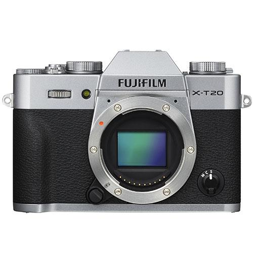 X-T20 Mirrorless Camera Body in Silver Product Image (Primary)