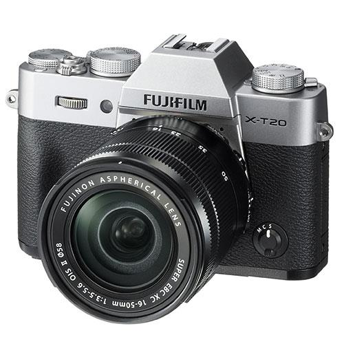 X-T20 Mirrorless Camera in Silver + 16-50mm Lens Product Image (Primary)