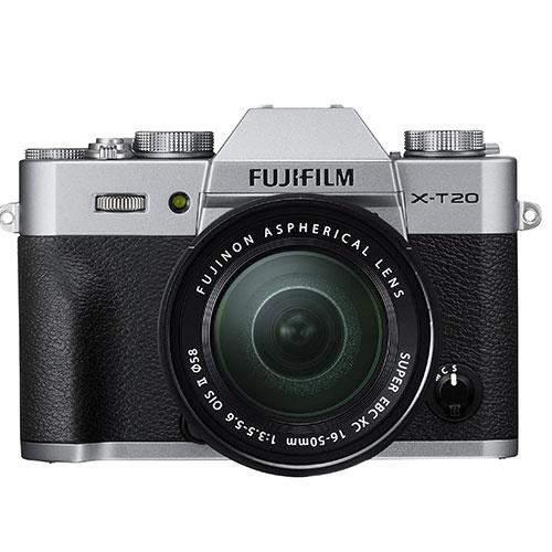 X-T20 Mirrorless Camera in Silver + 16-50mm Lens Product Image (Secondary Image 1)