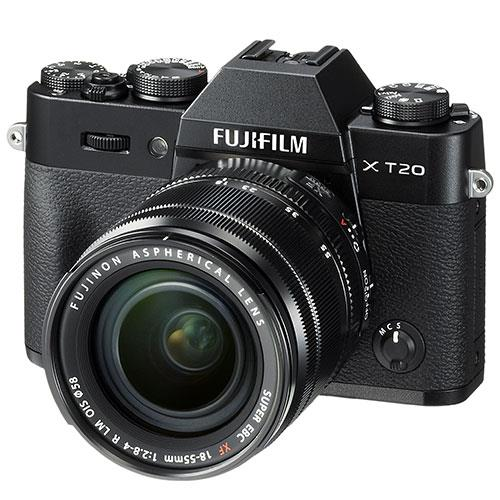X-T20 Mirrorless Camera in Black + 18-55mm Lens Product Image (Primary)